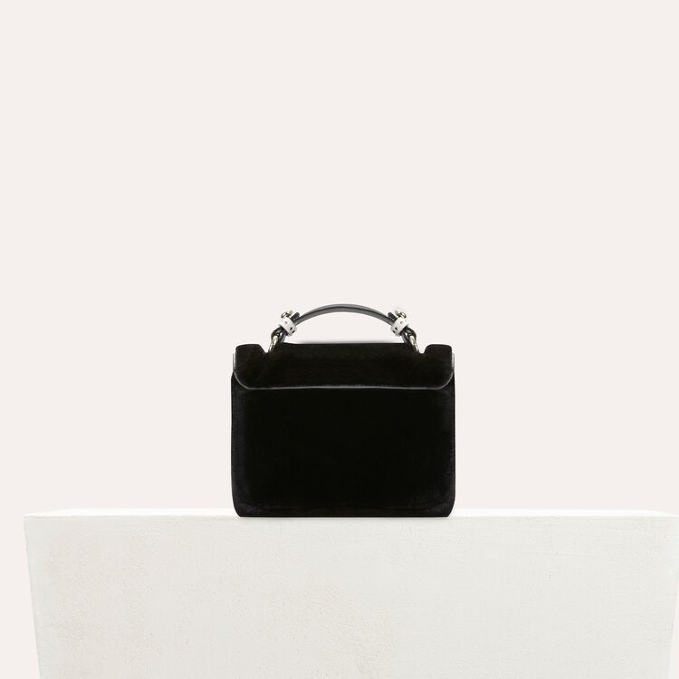 Faux-fur evening handbag : LDance bags color Black 210