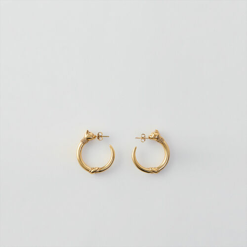 Cat hoops : Winter collection color Old Brass