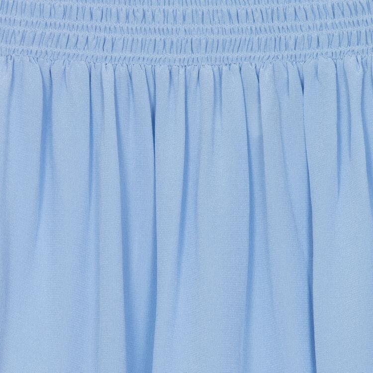 Silk cold-shoulder top : Majexclusive color Denim
