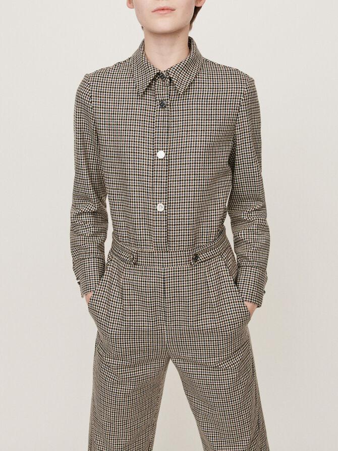 Checkered jumpsuit - pantalon - MAJE