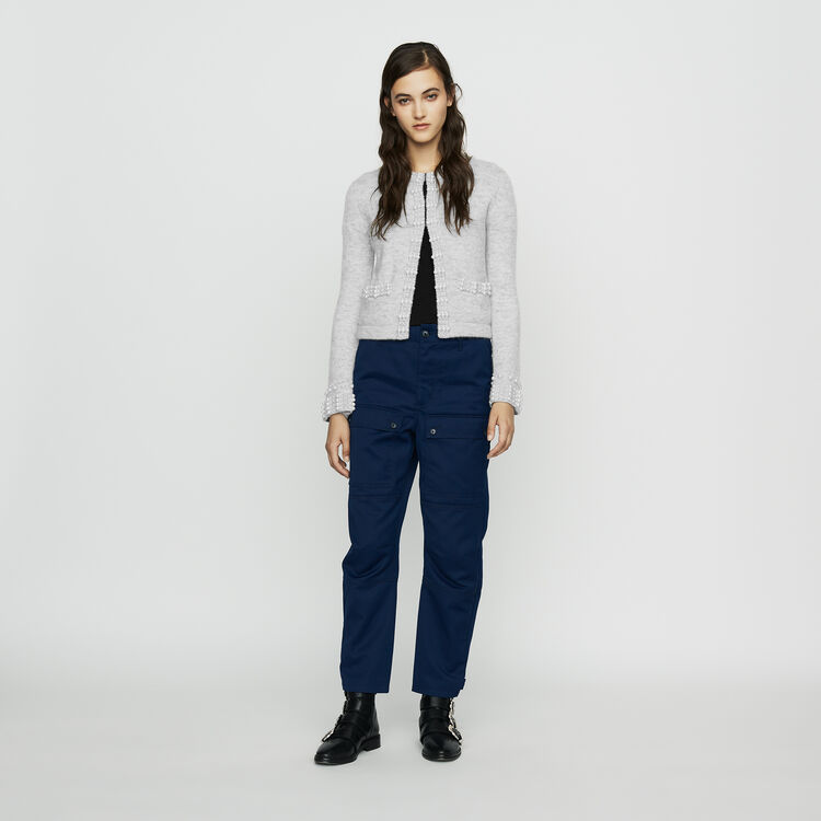Worker-style wide pants : Jeans color Blue