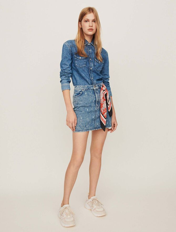 Faded jean shirt -  - MAJE