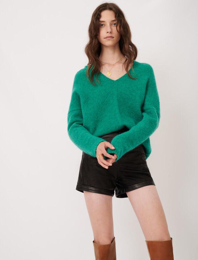 V-neck marl sweater - Knitwear - MAJE