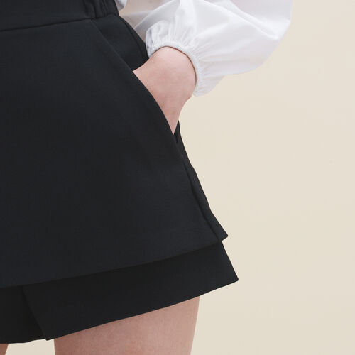 2-in-1 shorts : Skirts & Shorts color Black 210