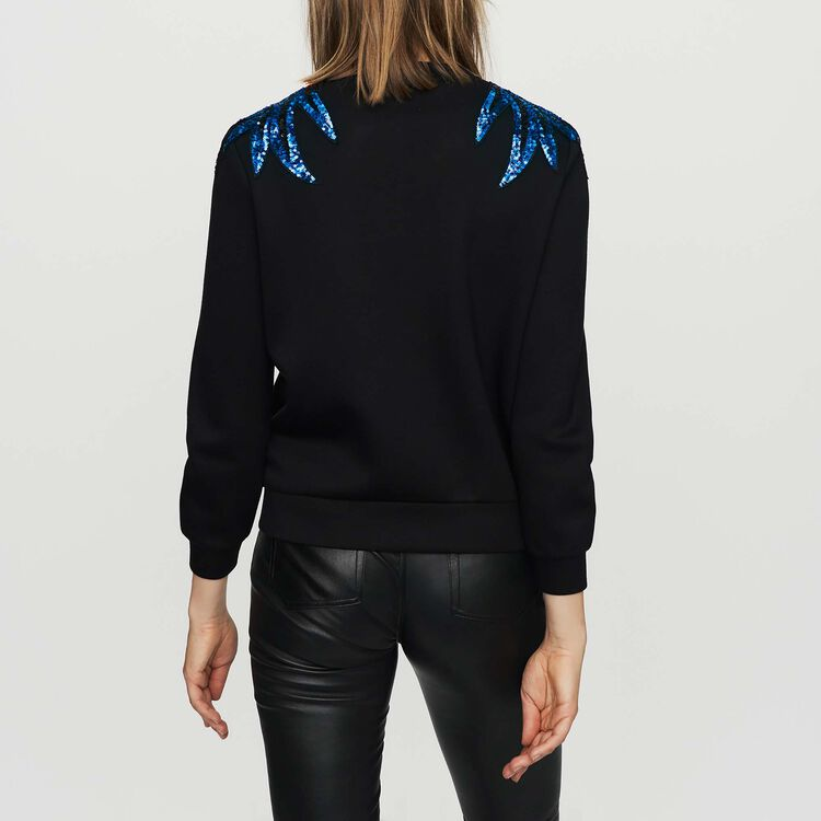 Embroidered sweatshirt : Sweatshirts color Black 210