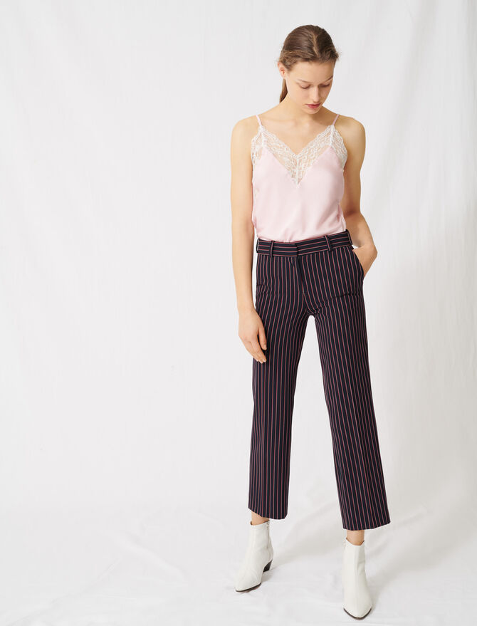 Striped suit trousers -  - MAJE