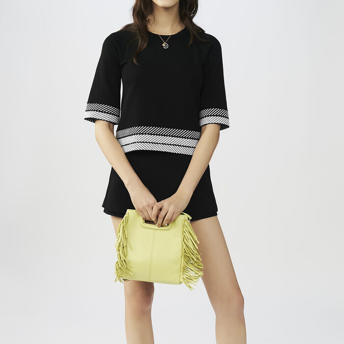 Oversized short-sleeved sweater : Knitwear color Black 210