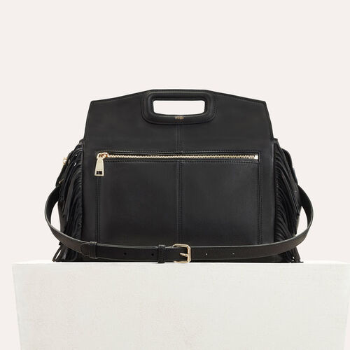 MWALK bag with leather fringes : See all color Black 210