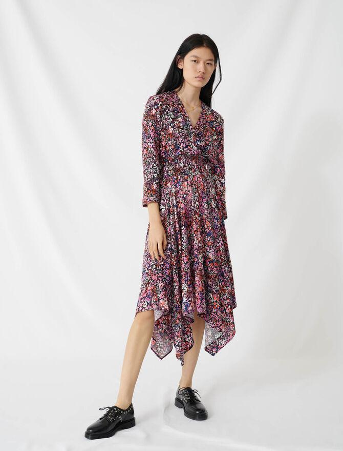 Floral wrap dress -  - MAJE