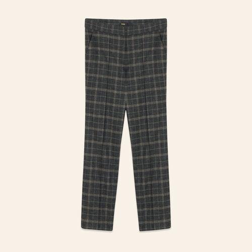 Tartan cigarette trousers : Trousers & Jeans color Jacquard