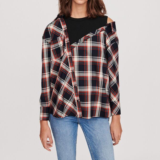 Trompe-l'oeil checkered shirt - See all - MAJE