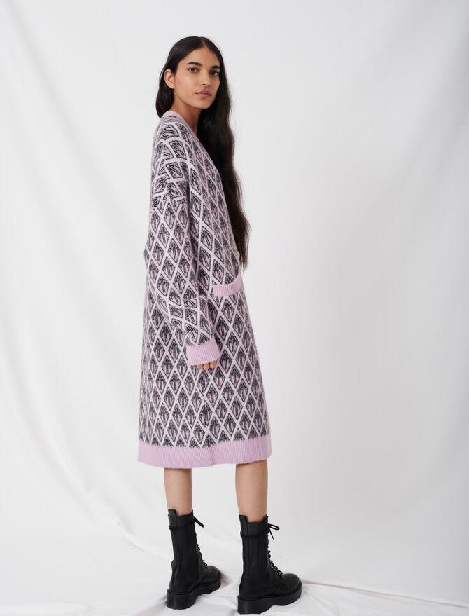 Maje monogram jacquard cardigan - Knitwear - MAJE