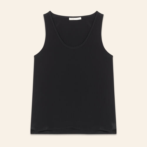 Silk tank top : Tops color Black 210