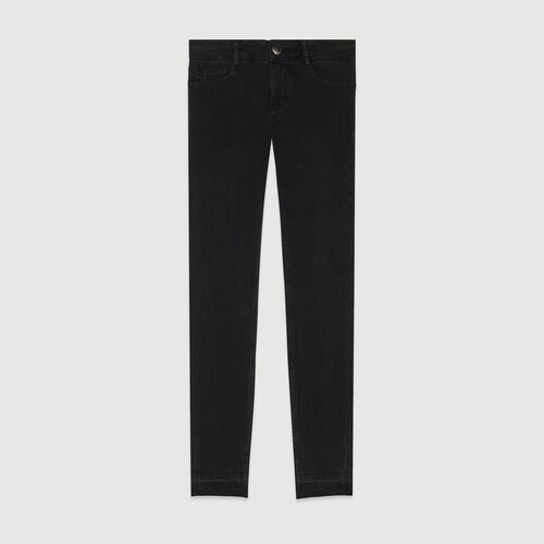 Skinny jeans in stretch cotton : Trousers color Anthracite