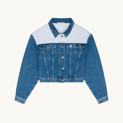 Two-tone denim jacket - null - MAJE
