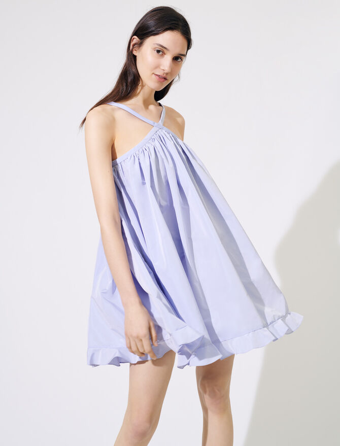 Babydoll dress with crossover straps - Dresses - MAJE