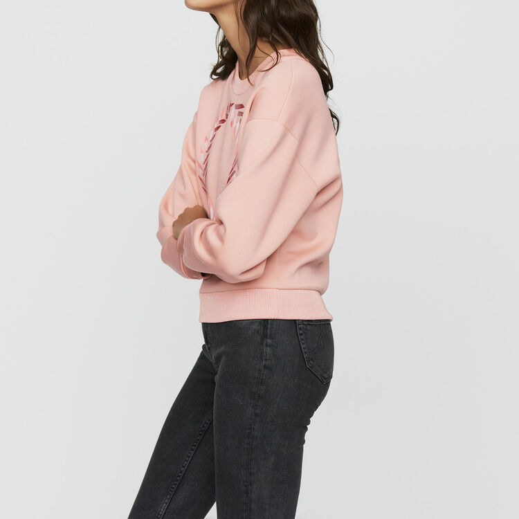 Fleece sweatshirt : Sweatshirts color PECHE