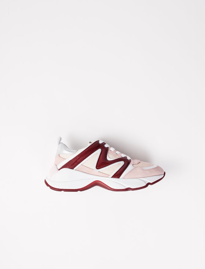 W20 mixed material sneakers - Sneakers - MAJE