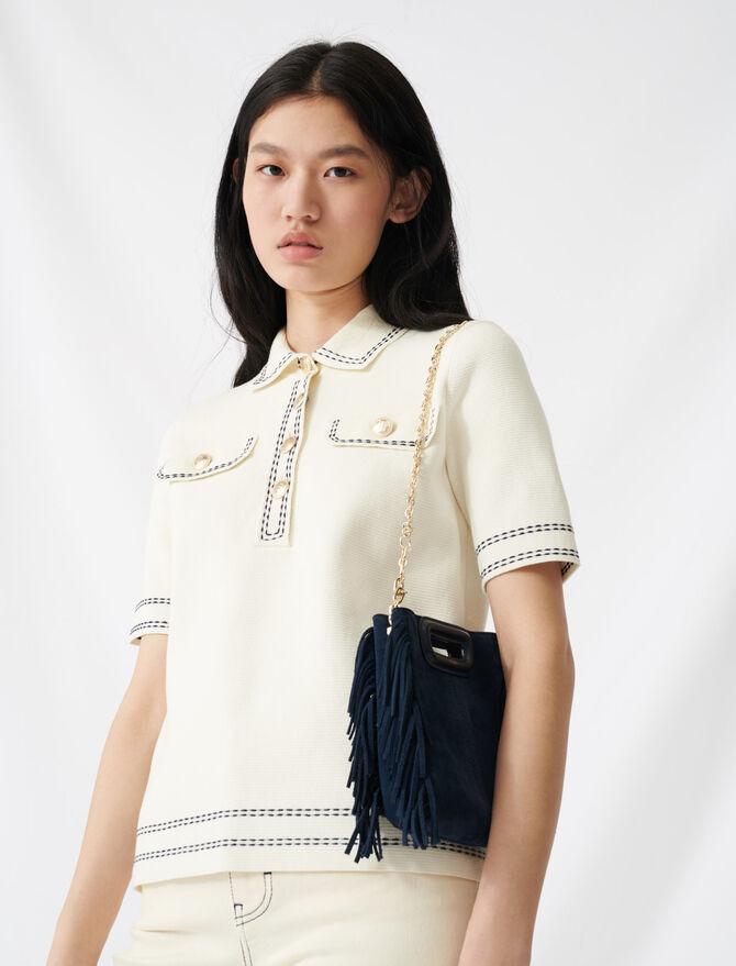 Short-sleeved polo-style jumper - Knitwear - MAJE