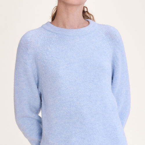 Loose fluffy jumper - Knitwear - MAJE