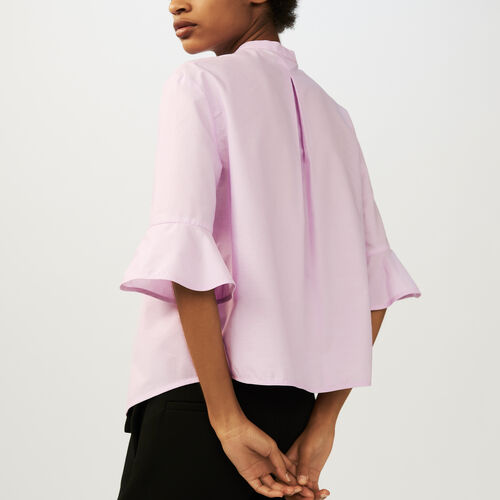 Oversized poplin shirt : Tops color Pink