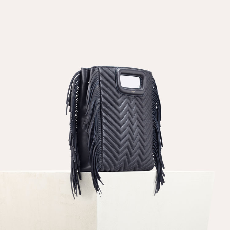 Quilted leather M bag : null color