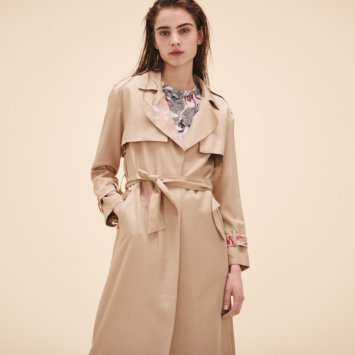 Trench coat with embroidery - See all - MAJE