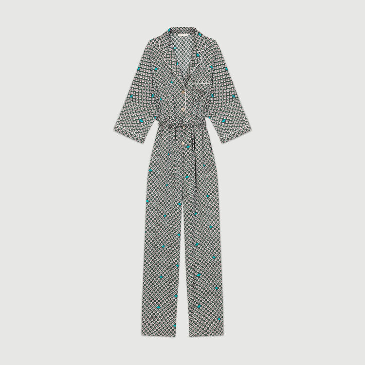Printed sateen overall : Trousers color PRINTED