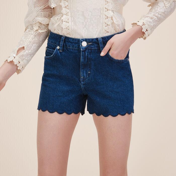 Denim shorts - Denim - MAJE