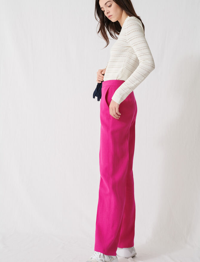 Fuchsia tailored trousers - Trousers & Jeans - MAJE