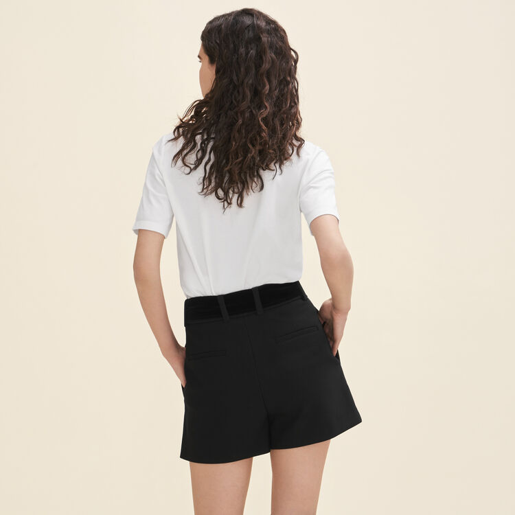 High-waisted crepe shorts : Best sellers color Black 210
