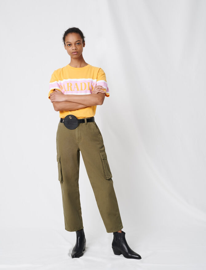 Cargo-style denim trousers - Trousers & Jeans - MAJE