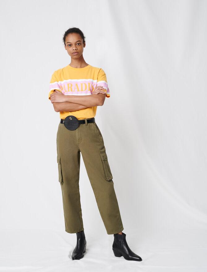 Cargo-style denim trousers -  - MAJE
