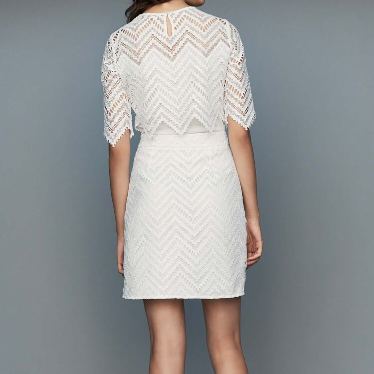 Straight lace dress : Ready to wear color White