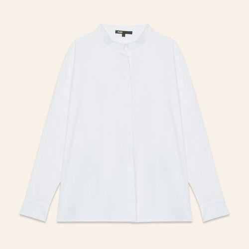 Asymmetric poplin shirt - Shirts - MAJE