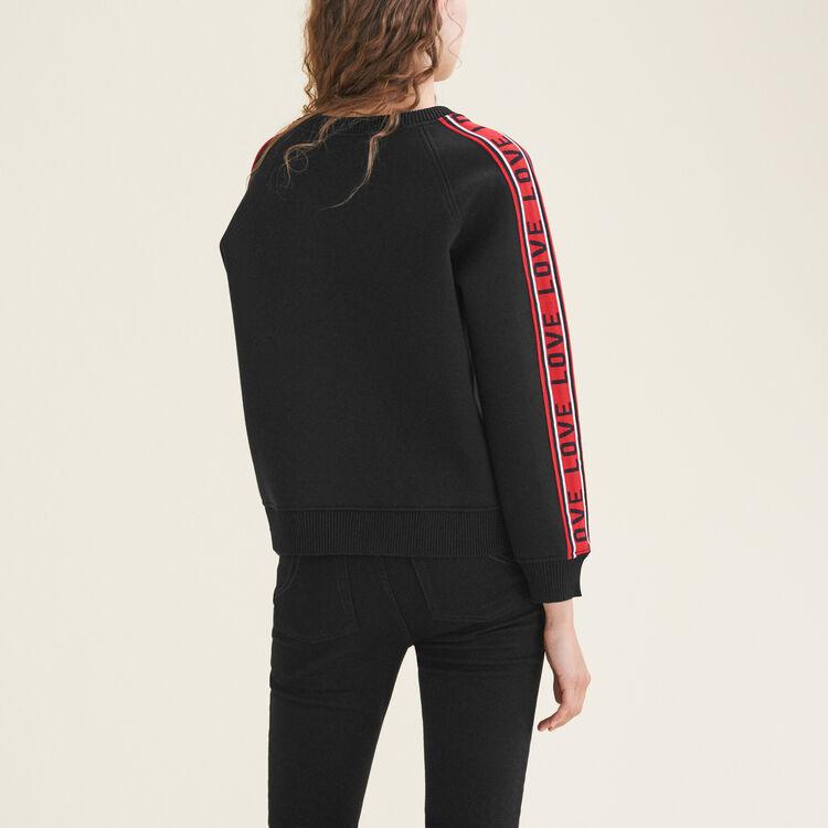 Neoprene sweatshirt with bands : Sweatshirts color Black 210
