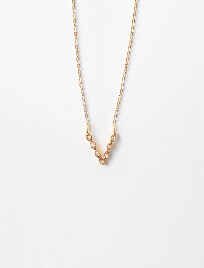 Rhinestone V necklace -  - MAJE