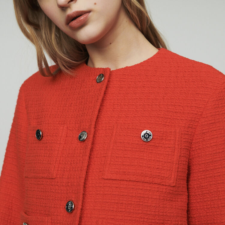 Short tweed-style jacket : New in : Summer Collection color Ecru