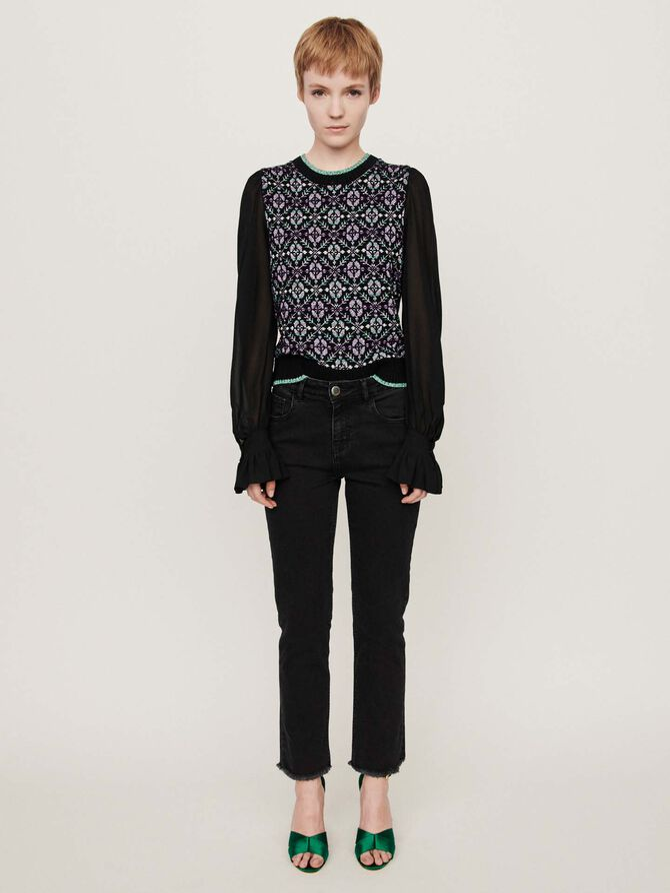Basic straight-leg jeans - Trousers & Jean - MAJE