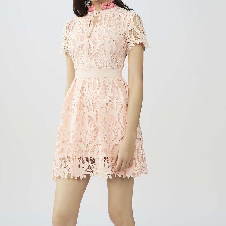 Fit and flare short dress : Dresses color Pink