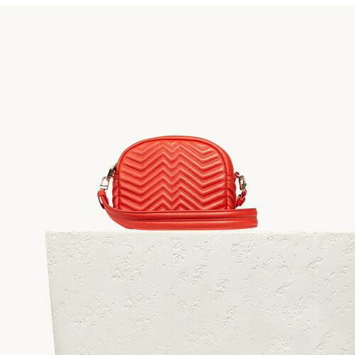 Round quilted leather bag - Voir Tout - MAJE