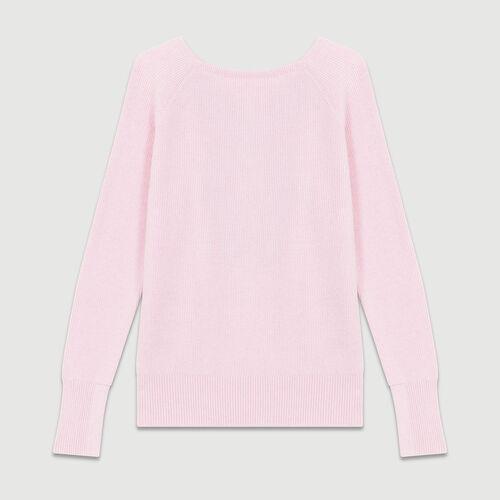 Sweater with back crossbelt : Knitwear color PURPLE
