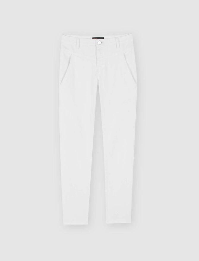 Straight-cut ripped jeans with pockets - Trousers & Jeans - MAJE