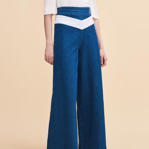 Denim culottes : Trousers & Jeans color Denim