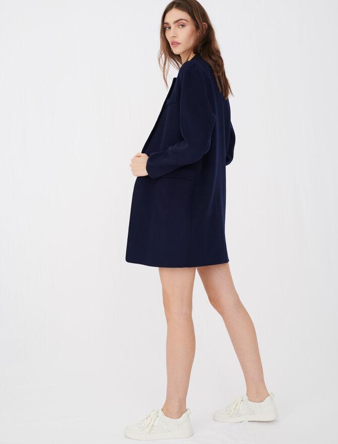 Blazer-style double face coat - Coats & Jackets - MAJE