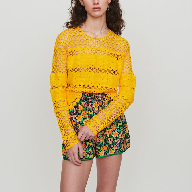 Oversize sweater in crochet knit - See all - MAJE