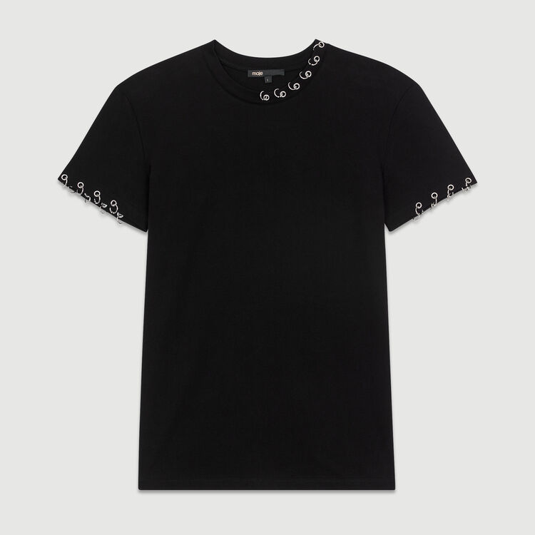 Cotton T-shirt : T-Shirts color Black 210