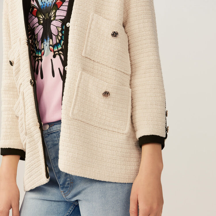 Oversized tweed jacket : Blazers color Ecru