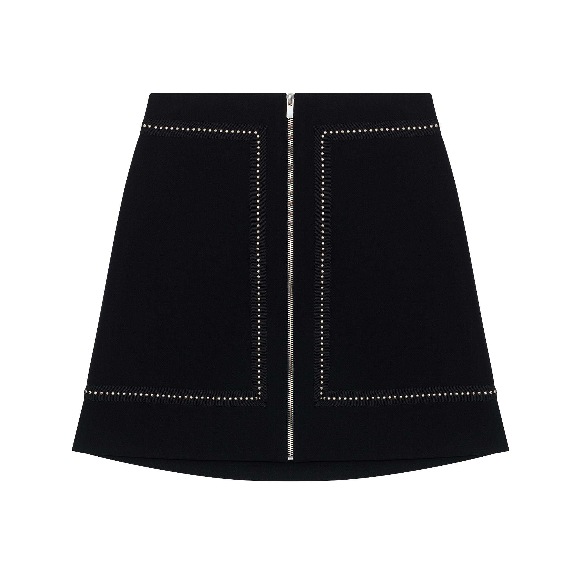 Short crepe skirt with studs - Skirts & Shorts - MAJE