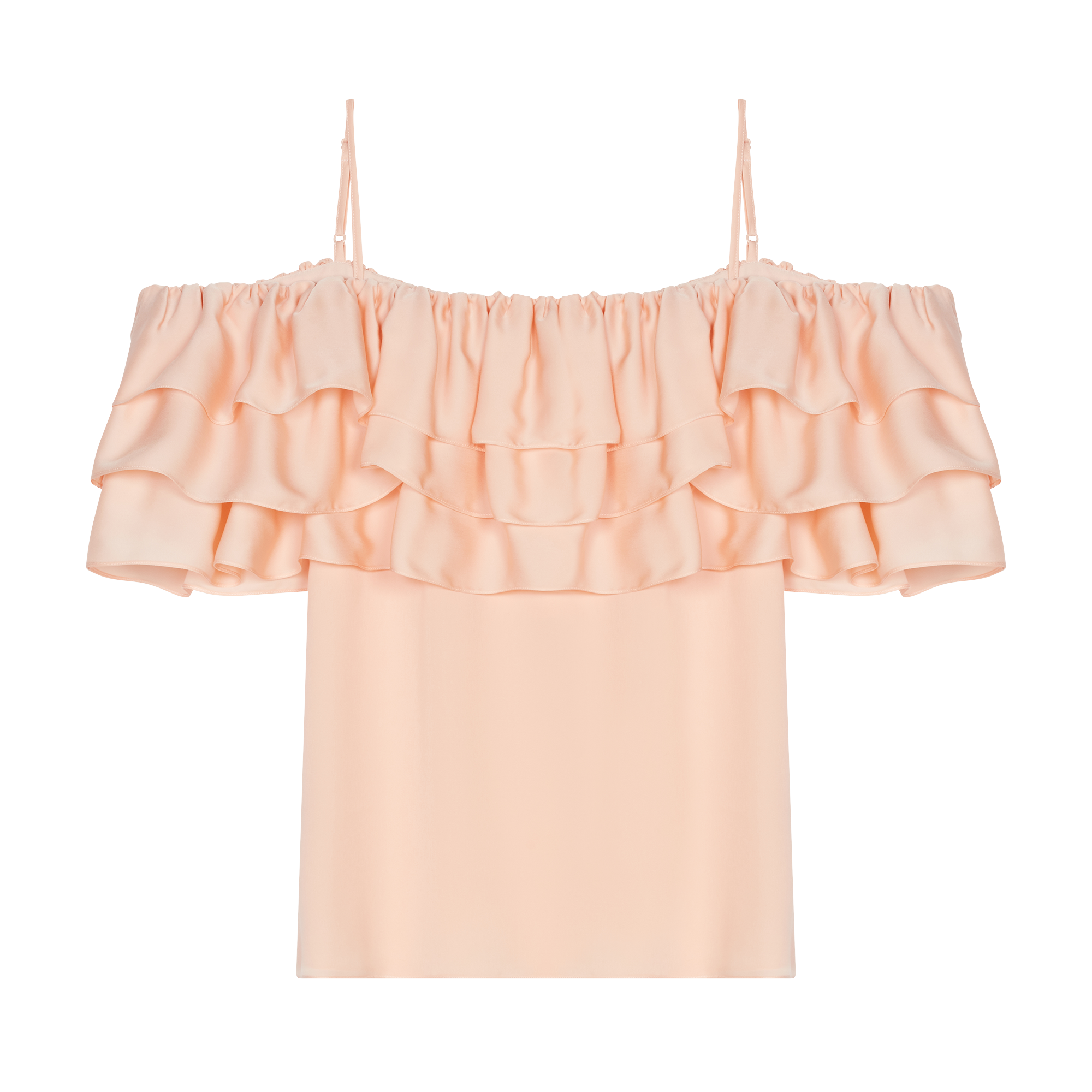 Strappy top with ruffles - Tops & Shirts - MAJE